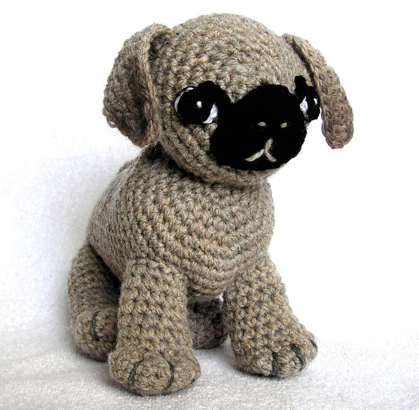 Crochet pug puggies pinterest crochet amigurumi and dog adorable crochet pug pattern on etsy bankloansurffo Choice Image
