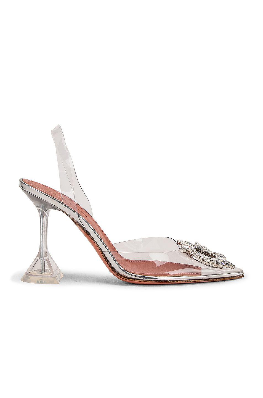 designer pvc heels