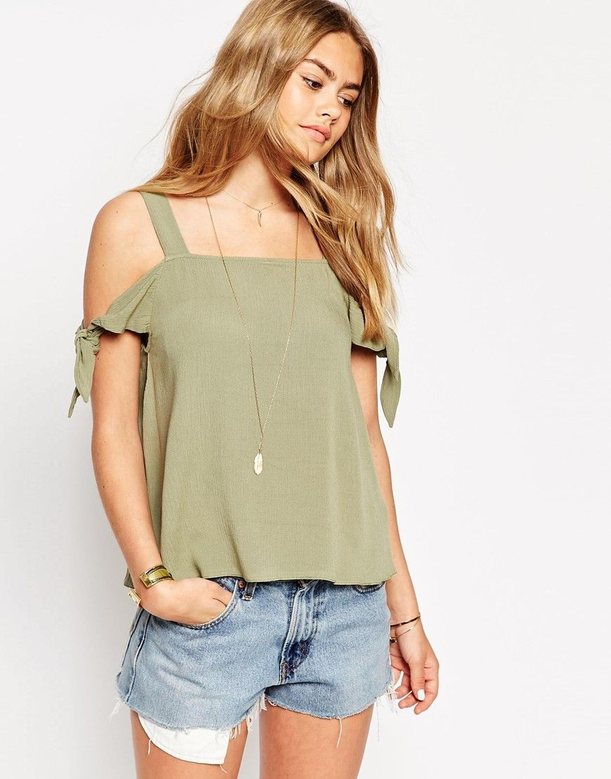 ASOS Casual Cold Shoulder Cami Top