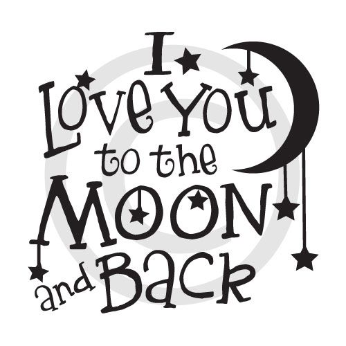 Download I love you to the Moon and back   Proyectos con vinilo ...
