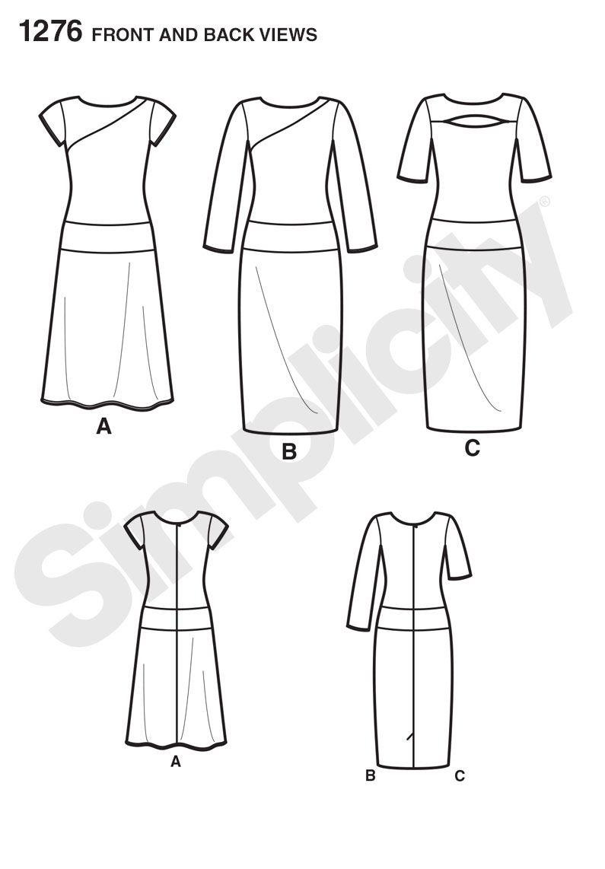 1/2015 Simplicity1276   Dresses Simplicity&New Look   Pinterest