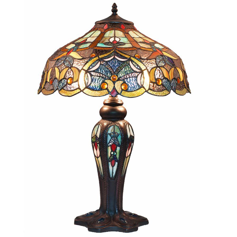 Beautiful Tiffany style stained glass table lamp. | Stained