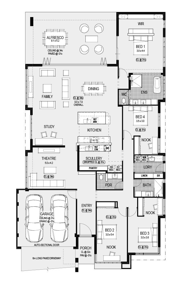 The New York Platinum Floor Plans Dream House Plans House Layouts