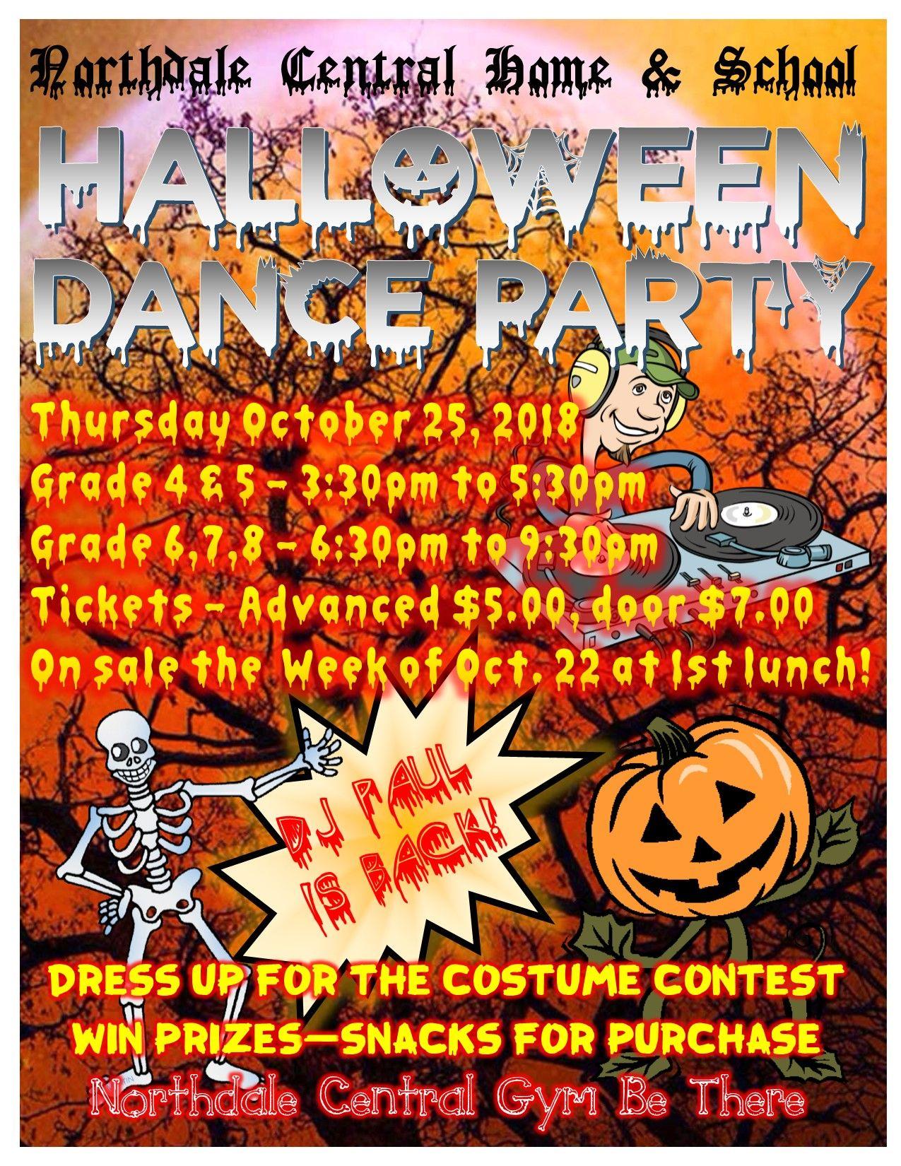 Elementary School Halloween Dance Flyer Poster