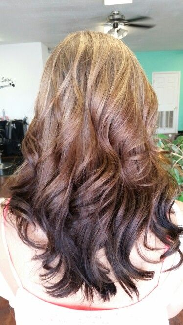 Reverse Ombre With Images Brown Ombre Hair Reverse Ombre