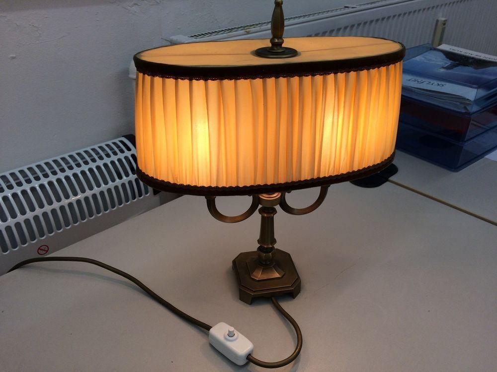 Kaiser Leuchten Messing Tischlampe Lampenschirm Lampen