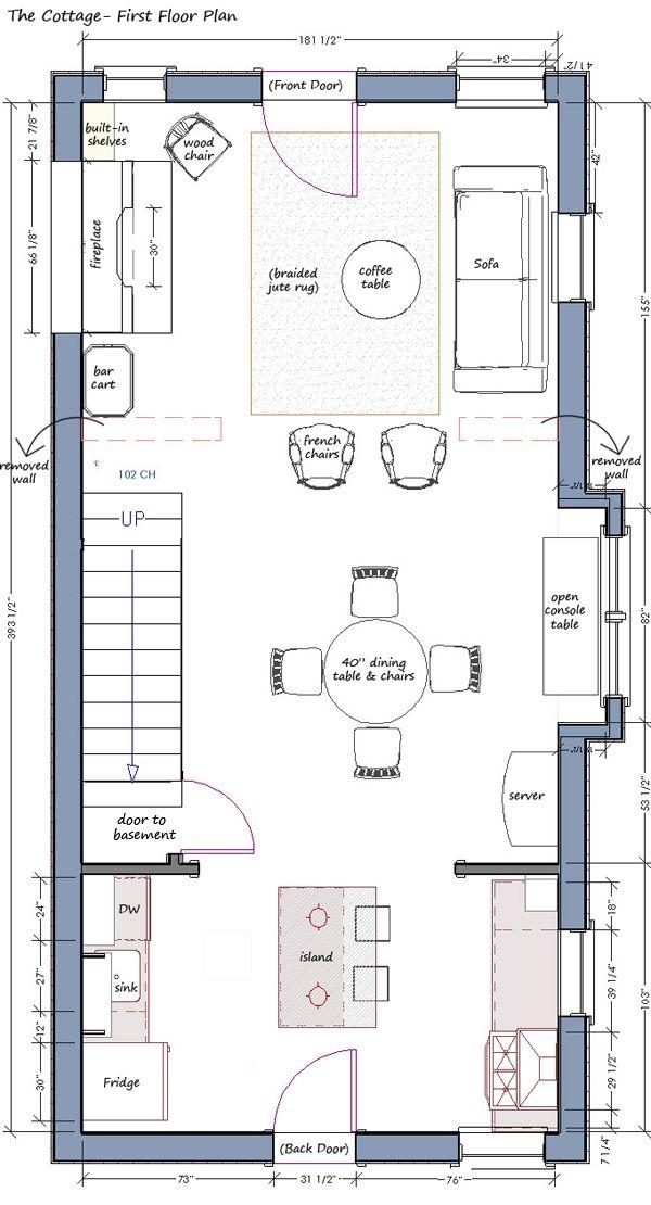 furniture floor plans. design manifest cottage talk first floor plan furniture plans