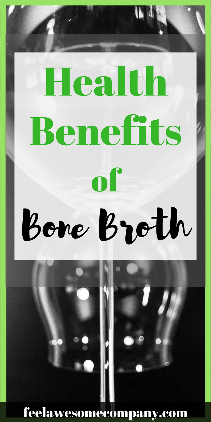 Benefits of Bone Broth (A Helpful Guide for 2019) Here you'll learn about the health benefits of bone broth and how it can improve your health. The bone broth contains a large amount of collagen. This collagen, along with some other beneficial properties in broth, helps rebuild your connective tissue, like tendons and ligaments and even bea