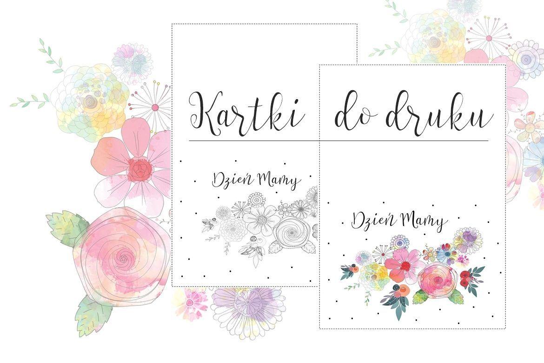 Kartki Na Dzien Mamy Pobierz Wydrukuj Dodaj Zyczenia Bullet Journal Handmade Diy