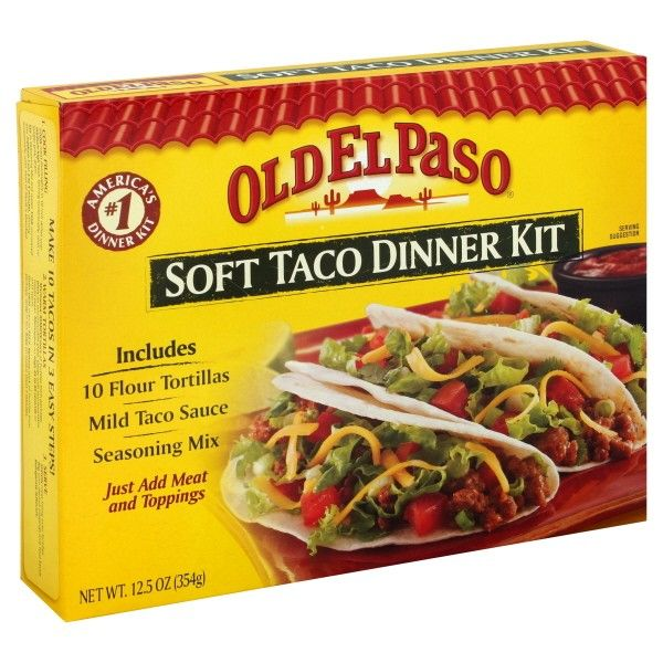 Save 0 60 On Any Three Old El Paso Products Taco Dinner Dinner Kit Soft Tacos