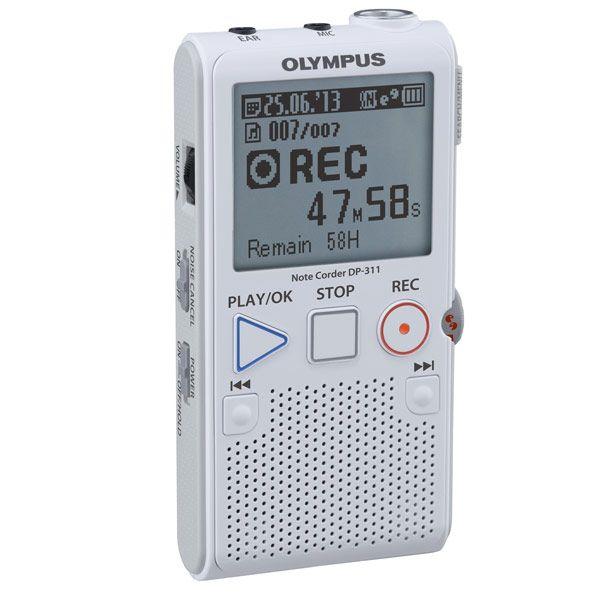 Olympus Dp 311 Digital Voice Recorder 2gb With Built In Stand Digital Recorders Maxiaids Voice Recorder Recorders Digital