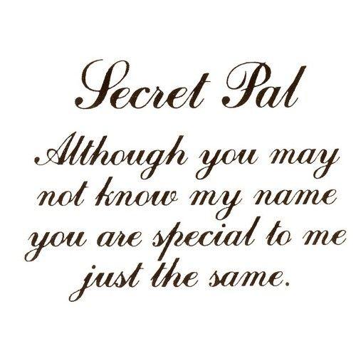 Virma 057 mug wrap sayings-Secret Pal Decal | Secret sister ...