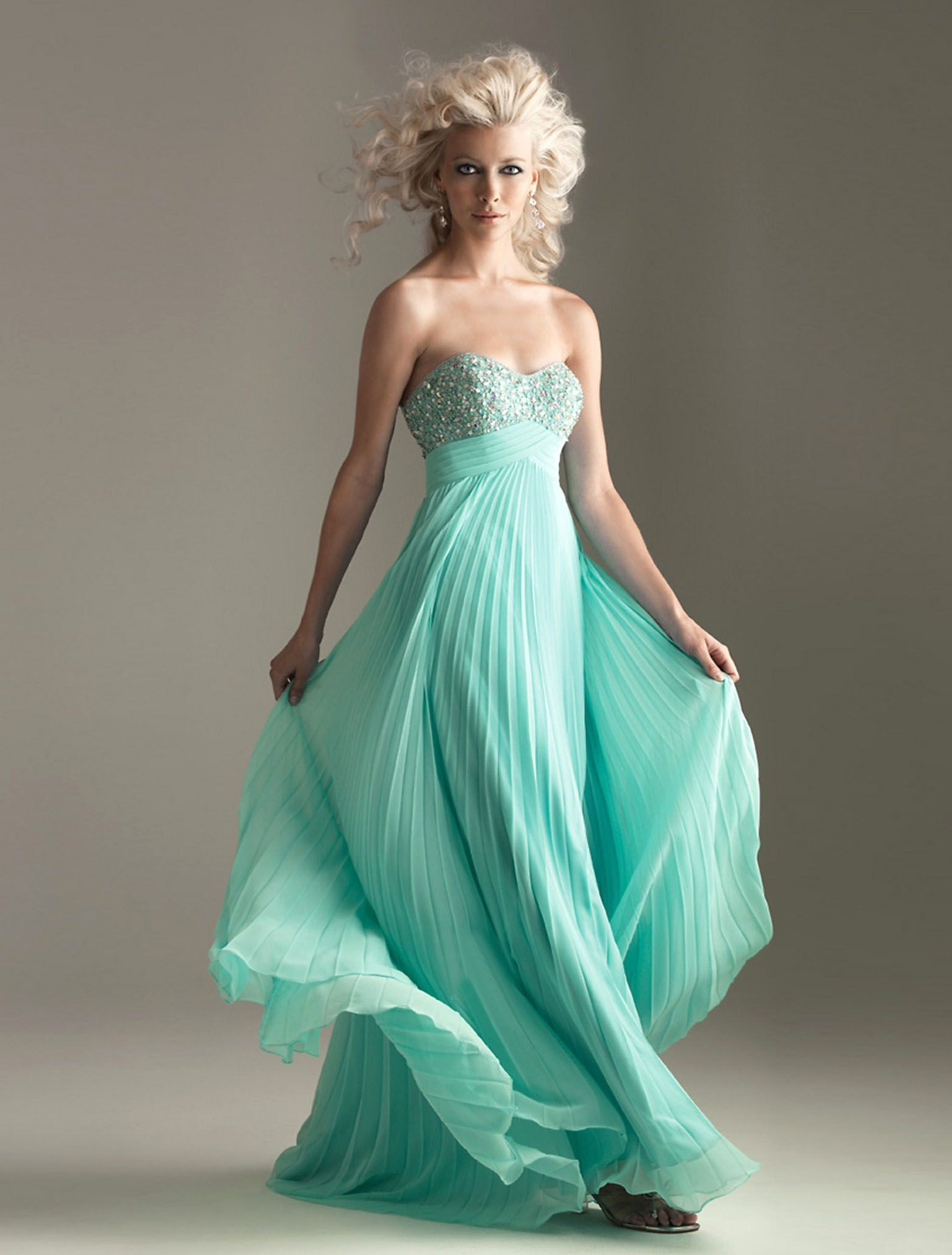 Light blue to turquoise and up top full of sparkles | PROM<3 ...