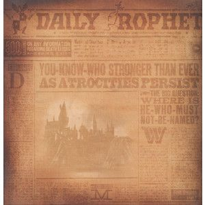 Harry Potter Daily Prophet 12 x 12 Double-Sided Paper ...