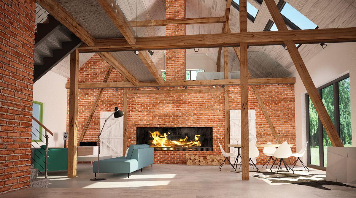 Projekt Domu Stodola Szukaj W Google Architekt Dom