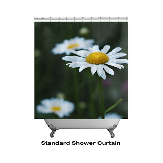 Daisy Flower Shower Curtain Daisies Floral by InLightImagery #inlightimagery #macrophotography #daisyshowercurtain