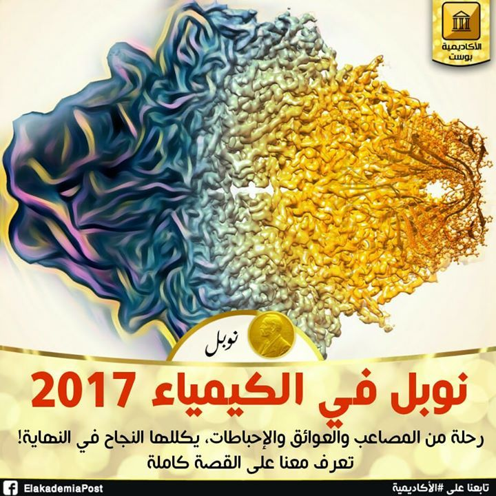 ذهبت جائزة نوبل للكمياء لهذا العام بالمشاركة لكل منجاك ديبوشيهويواكيم فرانكوريتشارد هندرسونلجهودهم في تطوير أداة فعالة للحصول علي صور ثلاثية الأبعاد للجزيئات ال