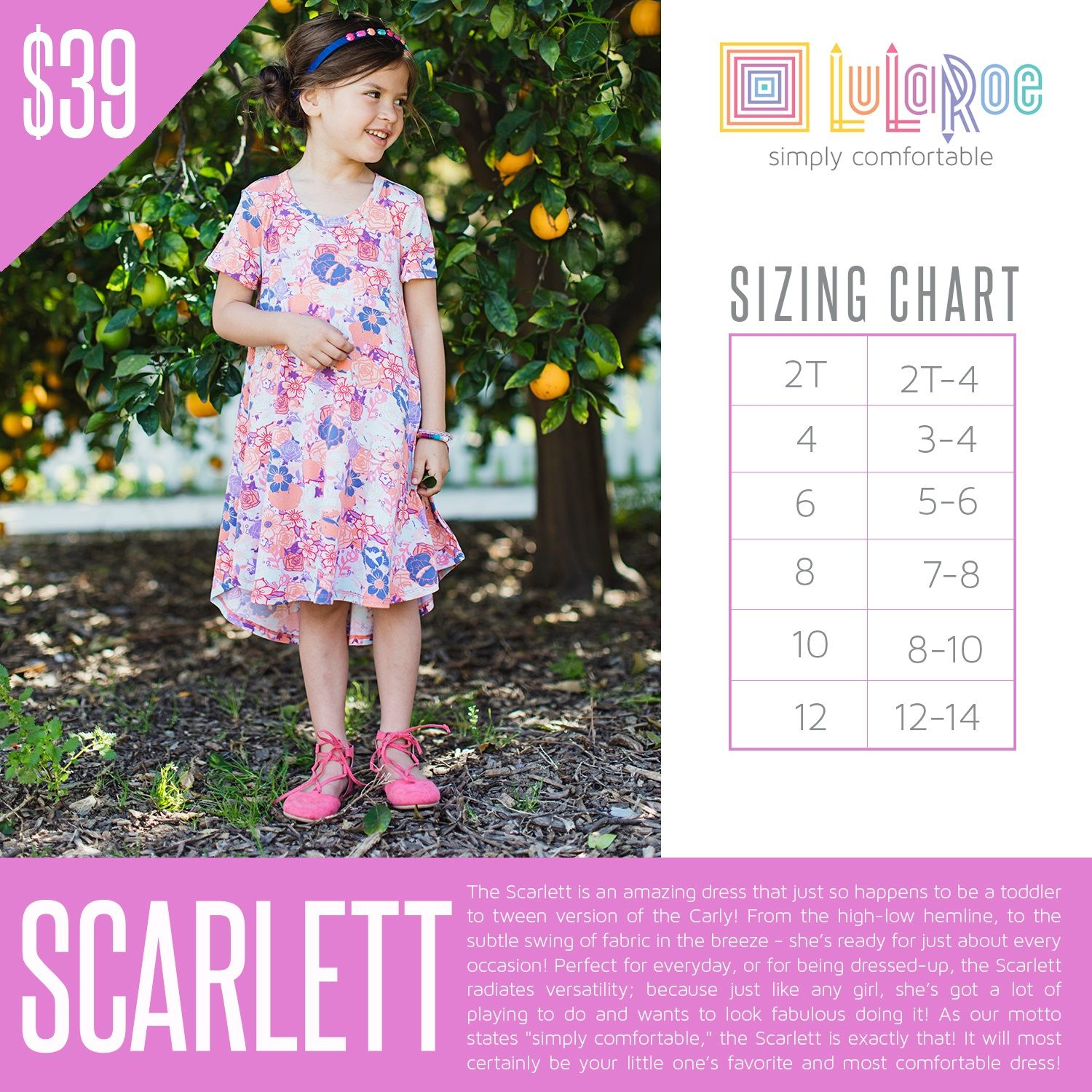 1cc571006 LuLaRoe Scarlett dress | LuLaRoe Size Charts & Pricing - Kids in ...