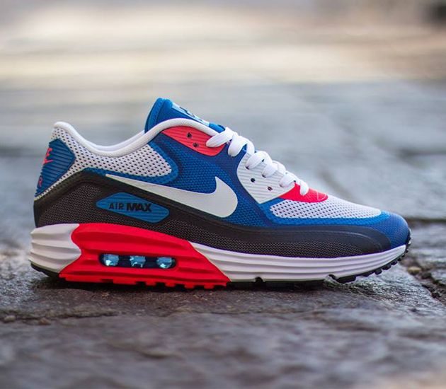 first rate 9e5a9 b0710 Nike Air Max Lunar90 C3 0–Light Base Grey-White-Military Blue-Photo Blue
