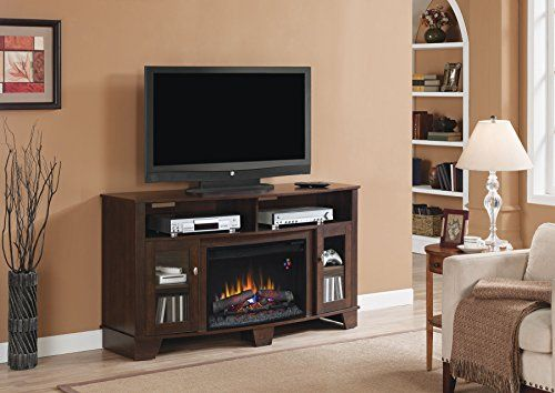 ClassicFlame 26MM4995NC72 La Salle TV Stand for TVs up to 65 Midnight Cherry Electric Fihomefurniture021-20 Insert sold separately -- Learn more by visiting the image link.Note:It is affiliate link to Amazon.