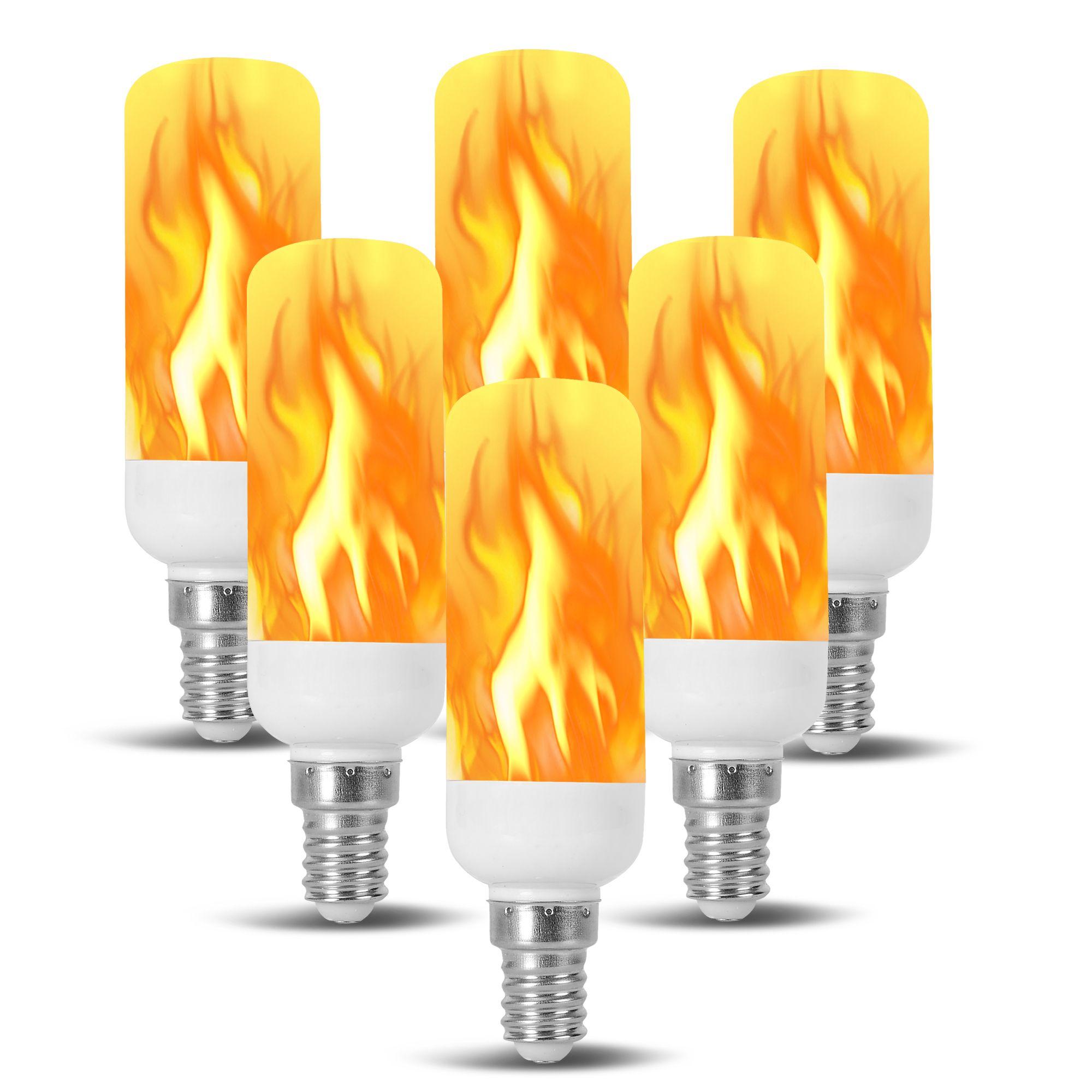 Flame Jdd Tubular Shape Led Fire Candle Light Bulb Flaming Flicker E12 E14 Light Bulb Candle Fire Candle Bulb
