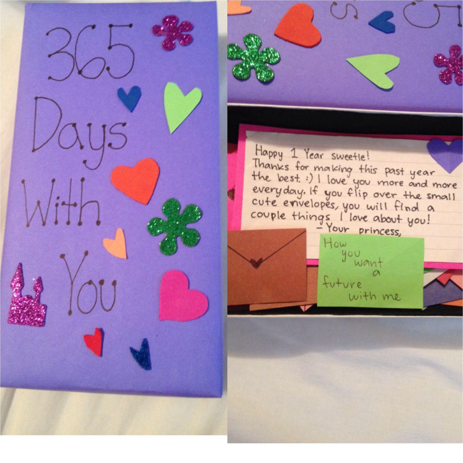 1 Year Anniversary Gift For My Boyfriend That I Made Gifts For My Boyfriend Anniversary Gifts 1 Year Anniversary Gifts