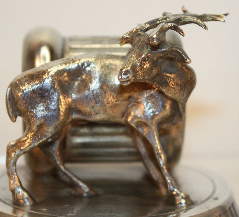 Deer Figural Napkin Ring Quadruple Plate Silver #196 Rockford Silver P Co