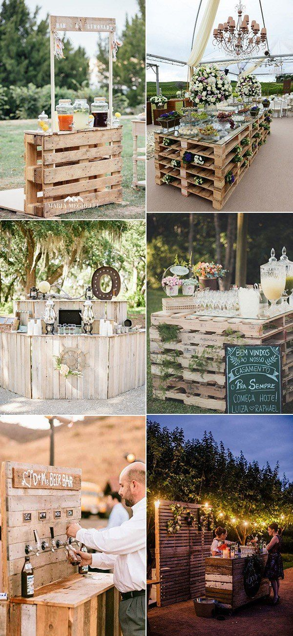 24 Ideas To Use Wood Pallet For Your Country Wedding Woodland