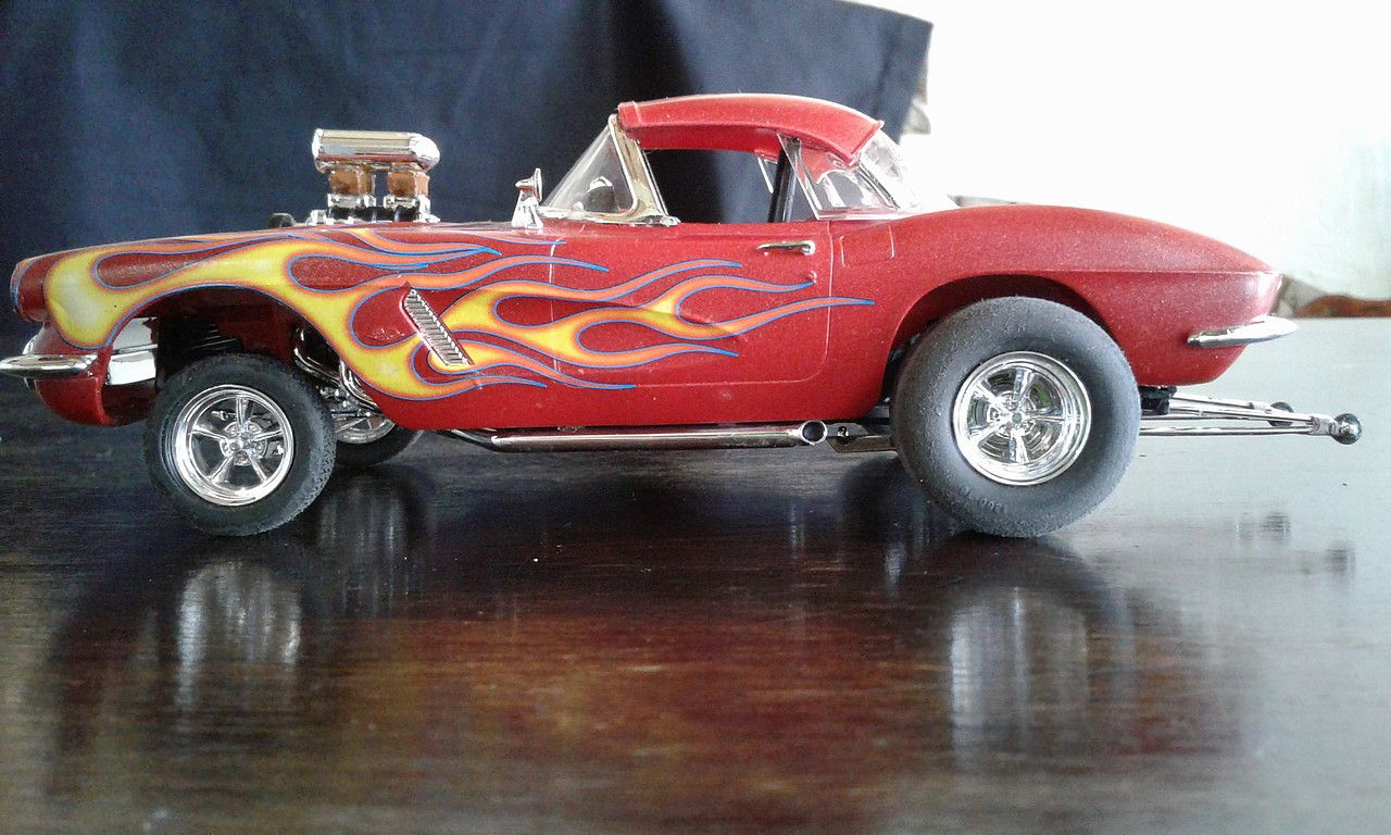 D M 1962 Corvette Gasser Plastic Model Car Kit In 1 25 Scale
