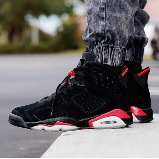 the best attitude b08b7 757be Air Jordan 6 Black Varsity Red   Infrared. IMO.