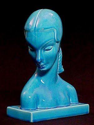 Art Deco Busts Circa 1930s American Art Clay Company Inc