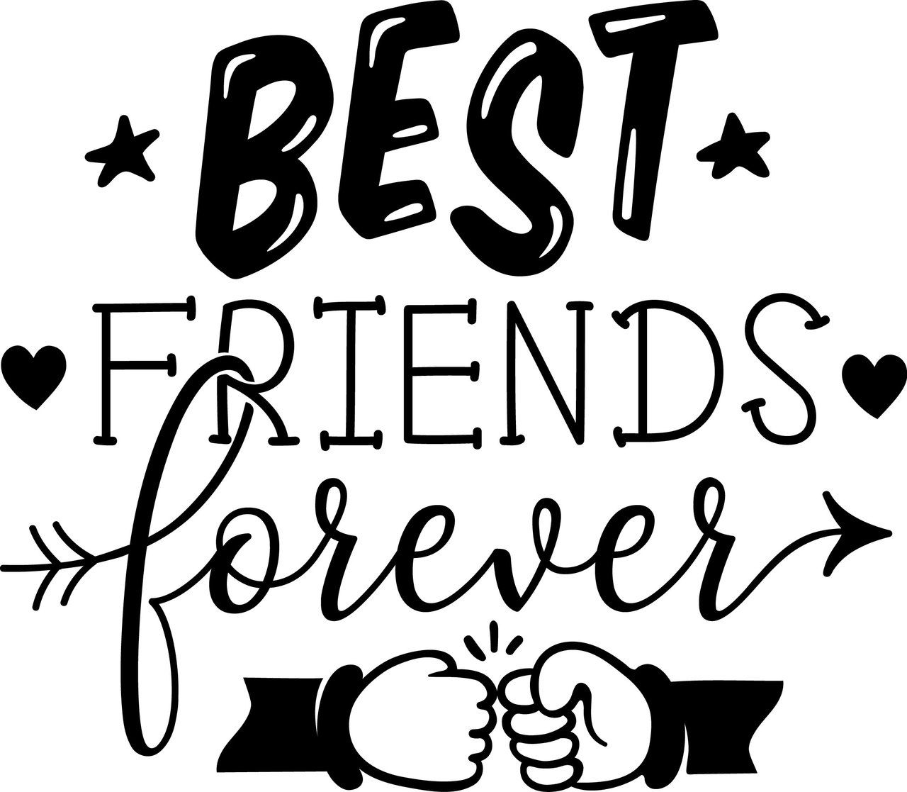 Free Best Friends Forever SVG Cut File  SVG cut files for the Silhouette Cameo and Cricut. Craftables: Fast shipping, responsive customer service, and quality products