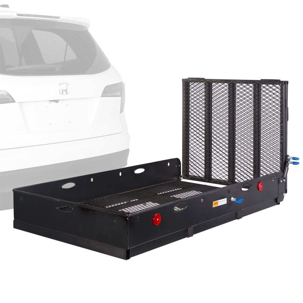 Trailer Hitch Luggage Rack Apex Steel Utility Cargo Carrier With Ramp