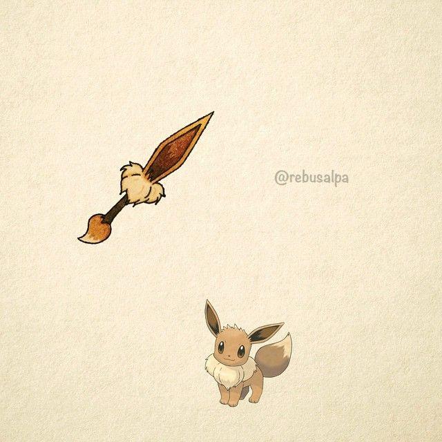 No. 133 - Eevee. #pokemon #eevee #dagger #pokeapon