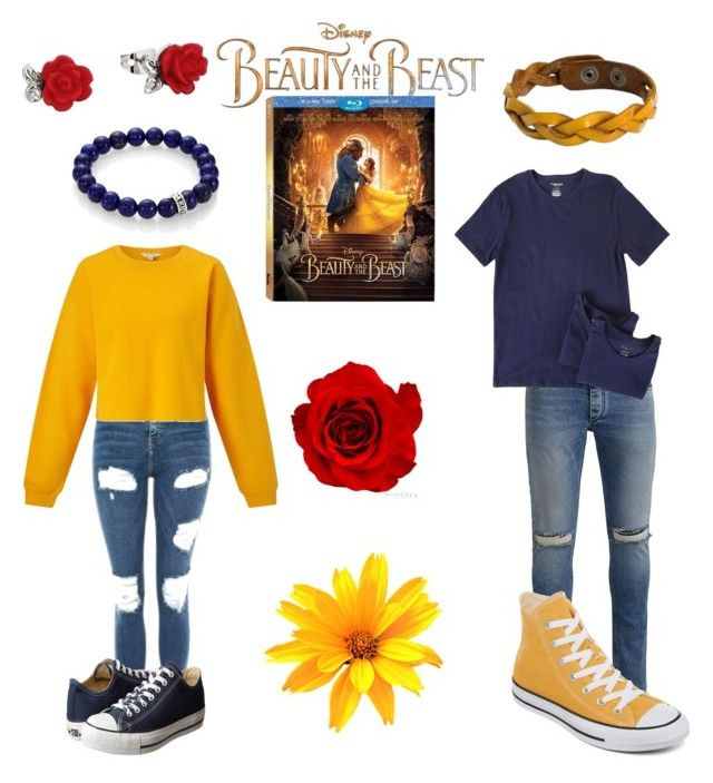 """#beauty&thebeast"" by wasco-martinez on Polyvore featuring Disney, Topshop, Miss Selfridge, Converse, Jack & Jones, Michael Kors, NOVICA, King Baby Studio, BeautyandtheBeast and contestentry"