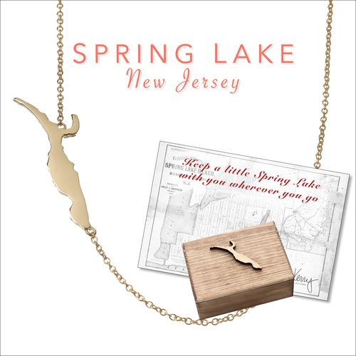 Spring Lake, NJ necklace by Kerry Gilligan Available in sterling silver or 14k yellow gold