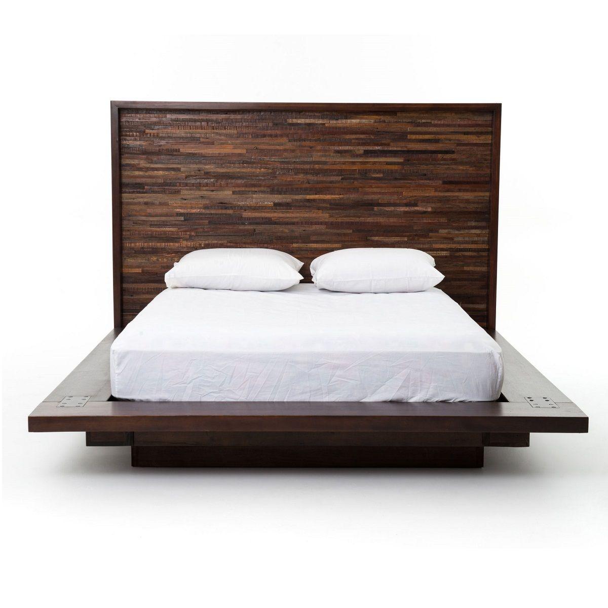 Devon Reclaimed Wood King Platform Bed Frame | Camas