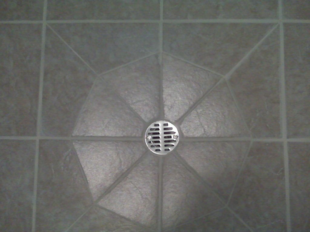 Tile Around A Floor Drain Ceramic Stone Tile