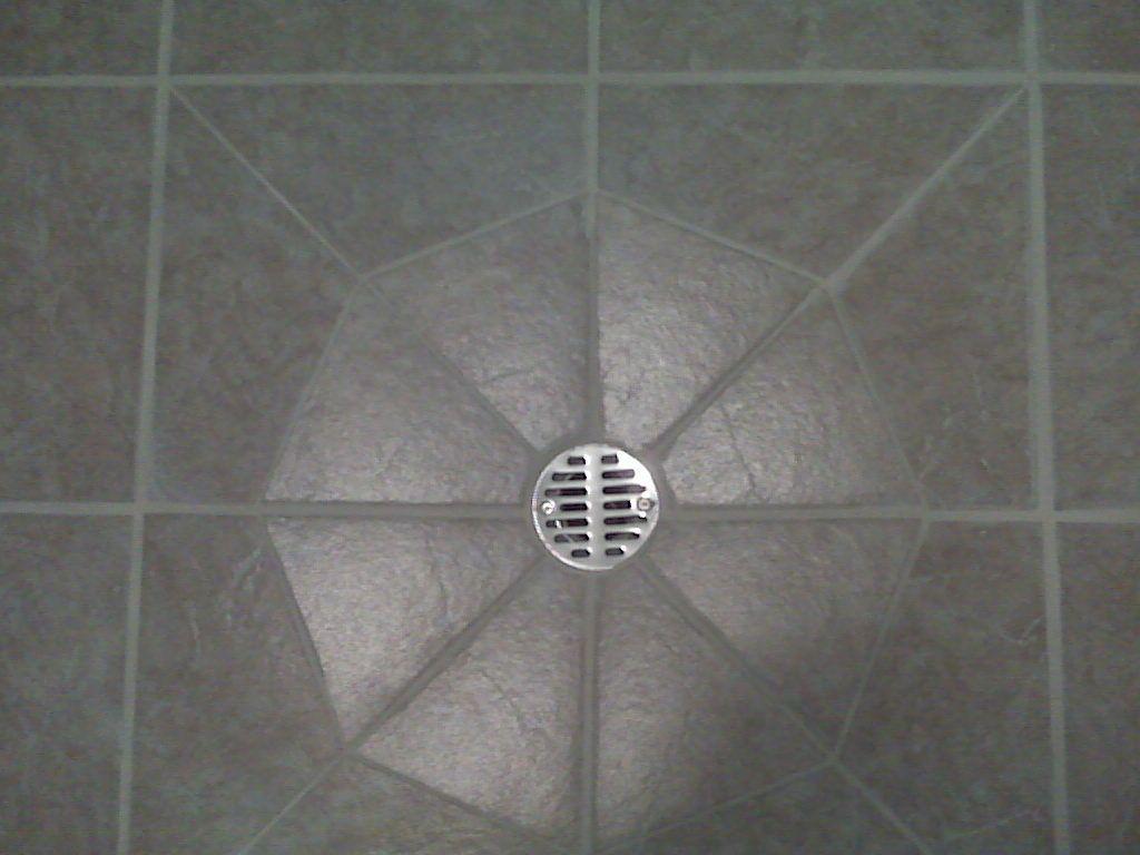 tile around a floor drain ceramic