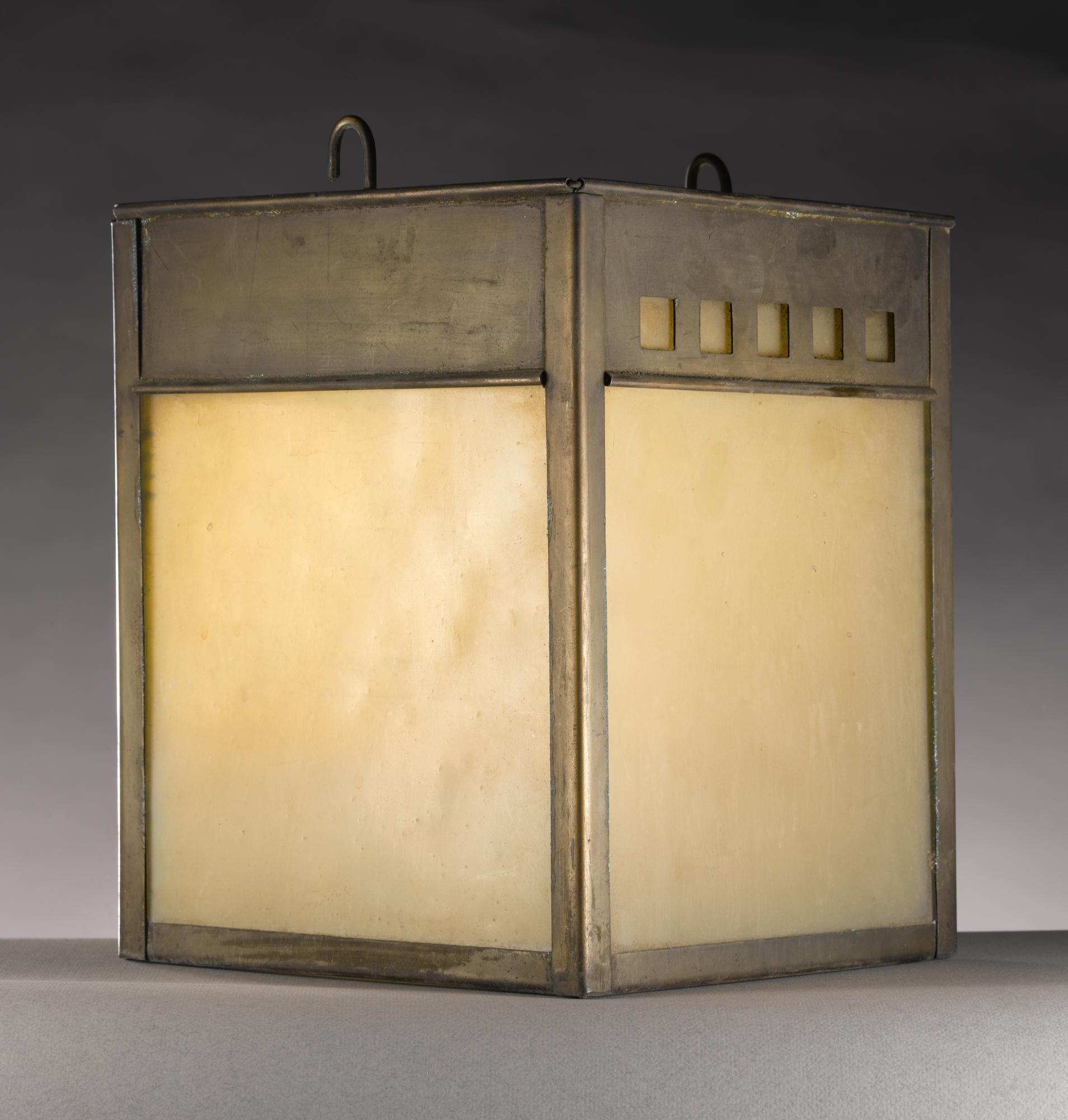 Kitchen Lighting Glasgow: Pendant Copper Light Shade With Glass Panels: British
