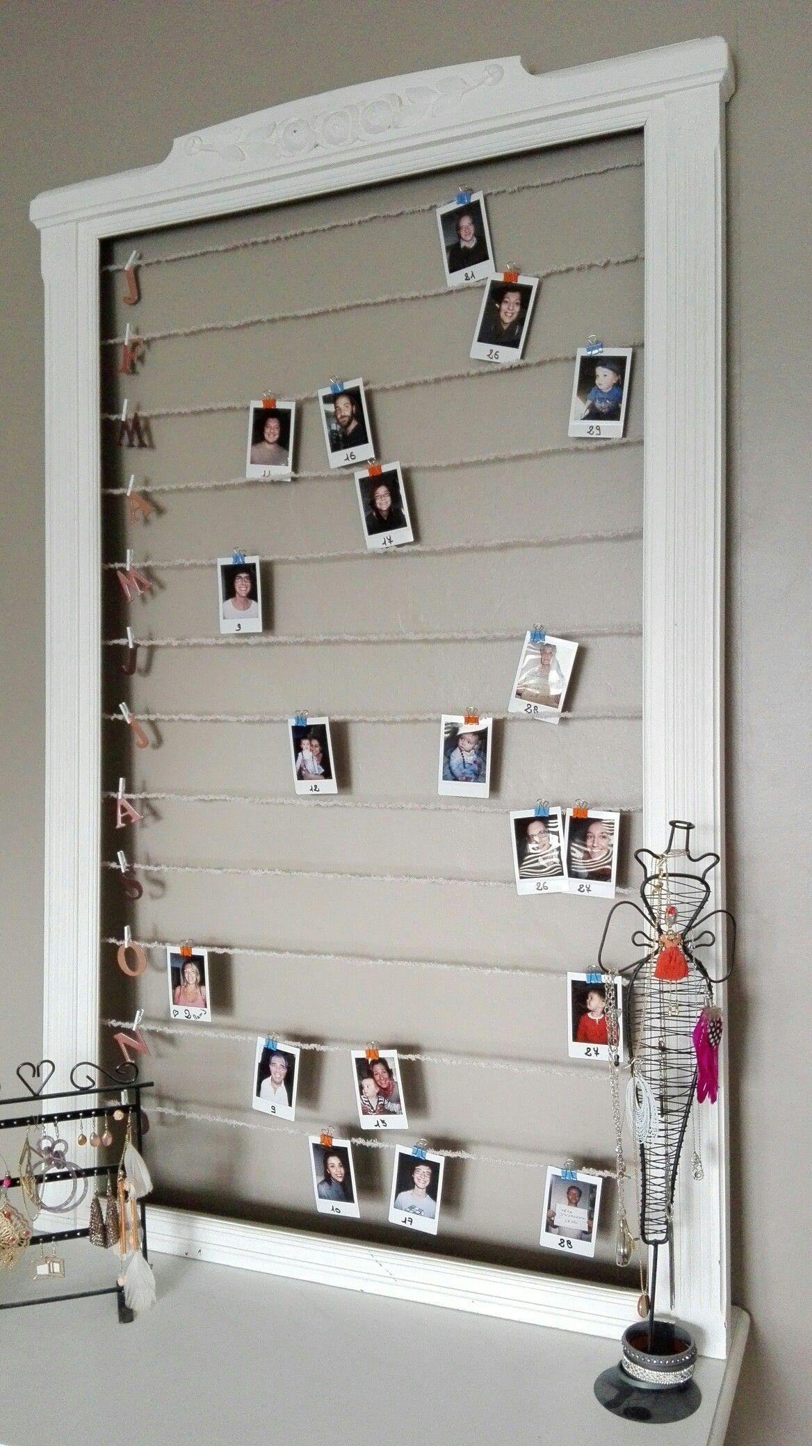 Cadre En Bois Peint + Polaroid = Tableau Danniversaires Diy