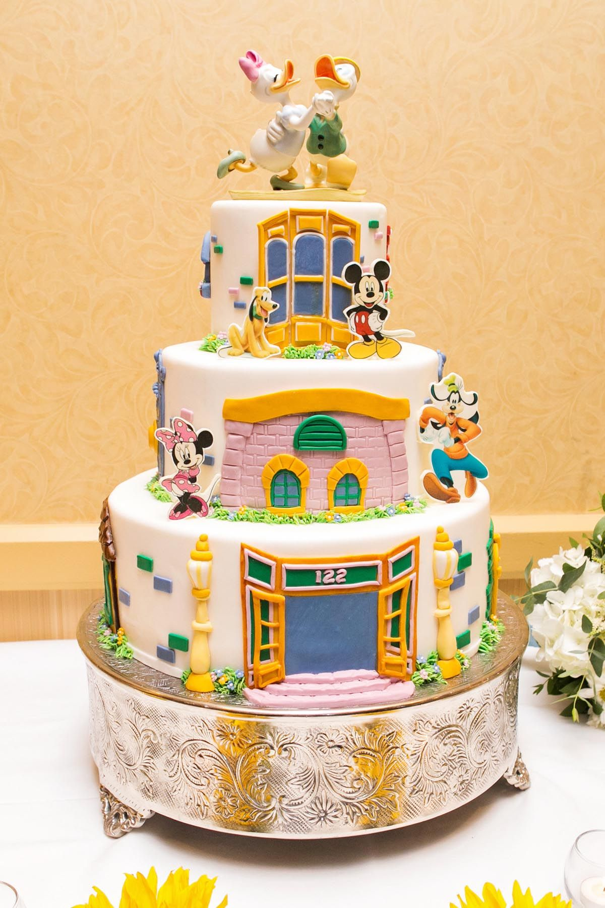 Disneyland wedding cake inspired by Mickey's Toontown