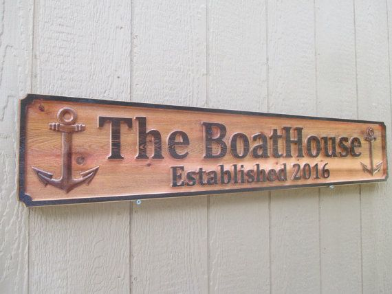 Personalised Driftwood Effect House Sign Custom Outdoor Name Number Plaque
