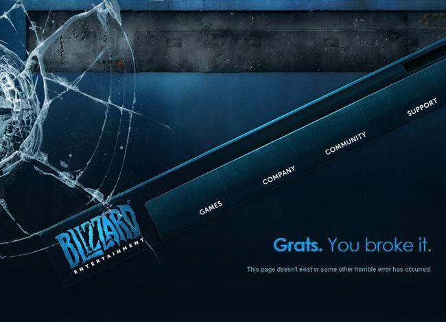 Blizzard 404 Page Webdesign Inspiration Forms 404 Page Design Blizzard Entertainment Web Design