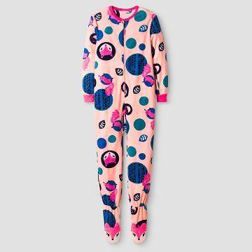 Girls  Footed Blanket Sleeper Cat   Jack™ - Peach Fox  c319c438f