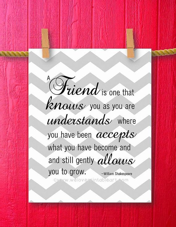 Unique Friendship Gifts Gray Chevron Friendship Quotes