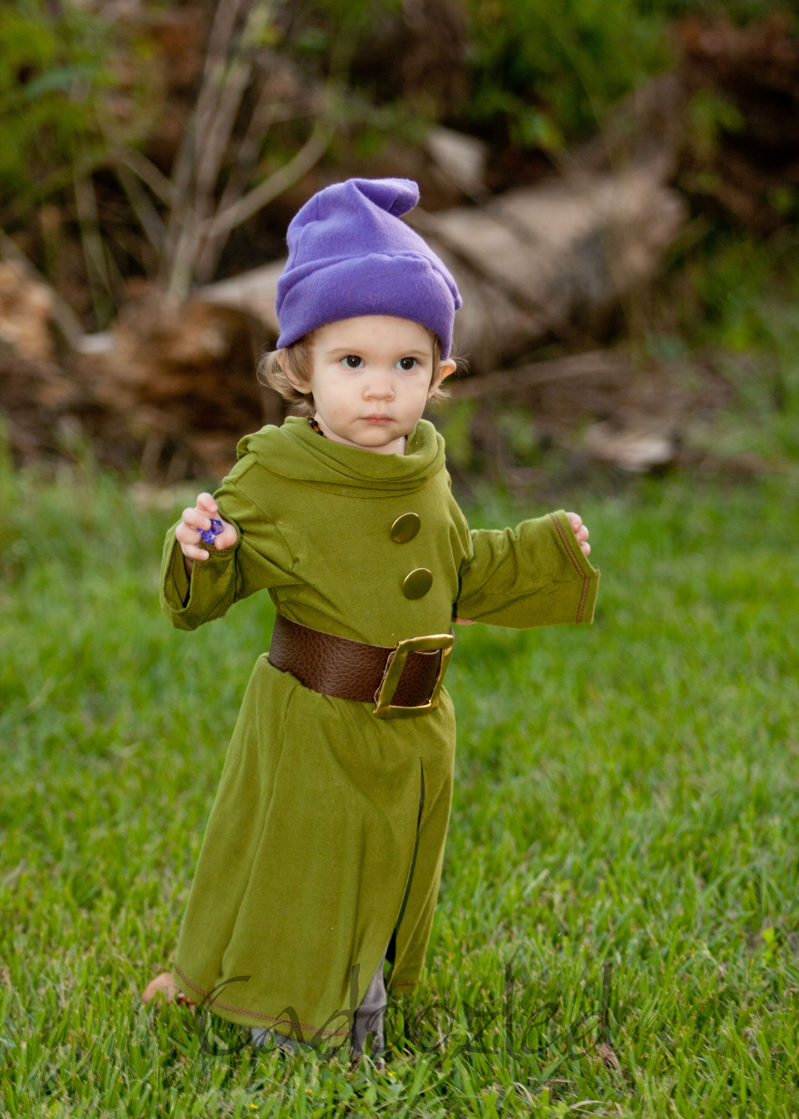 Adorable baby Dopey Halloween Costume! Made by Cadoozled
