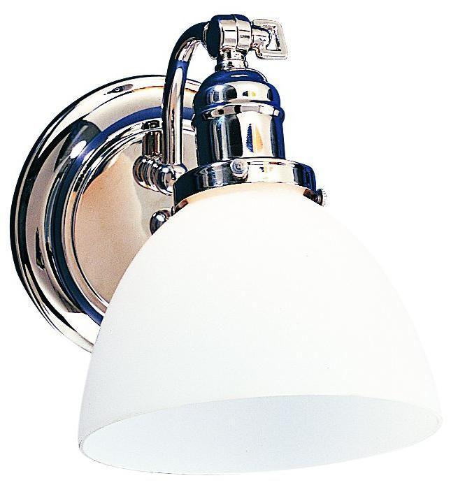Hinkley Lighting Mercer: Morgan Polished Chrome White Glass Adjustable Wall Sconce