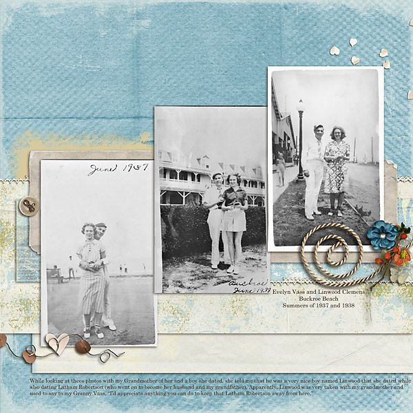 Nice, and interesting, example of heritage scrapbooking