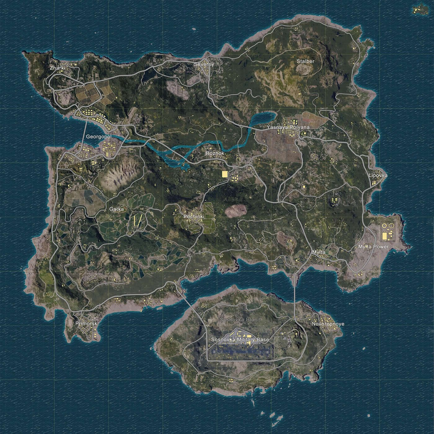 A Complete Guide To The Battlegrounds Map And Its Locations Gambar Serigala Seni Objek Gambar